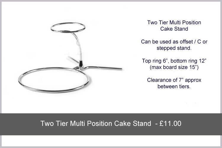 Wedding Cake Stand Hire   Two Tier Multi Stand .