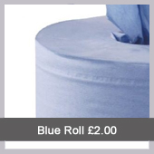 2 Ply Blue Centrefeed Roll