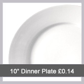 Dinner Plate Hire - Northants Budget Crockery Hire