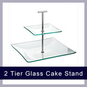 Single Tier Stainless Steel cake Stand to hire