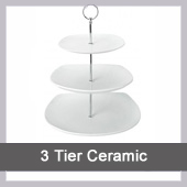 3 Tier Ceramic Cake Stand to Hire