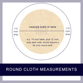 Measurements for round table cloths