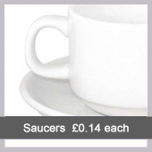 Stacking Saucer - Northants Budget Crockery hire